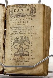 298. DANTE. Dante con nuove et tutili ispositioni. 1551.