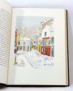 410. CARCO. Montmartre vécu par Utrillo. Paris, Éditions Pétridès, 1947.