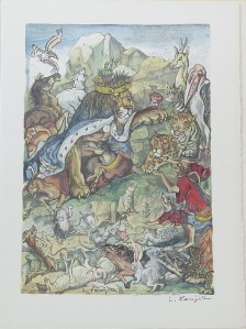 499. LA FONTAINE. COCTEAU. 20 Fables. Monaco, Jaspard Polus & Cie, 1961.
