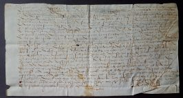 85. Acte manuscrit sur parchemin. 16 avril 1584.