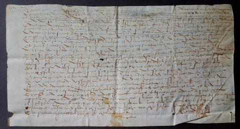 85. Acte manuscrit sur parchemin. 16 avril 1584.