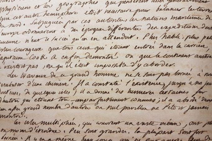 263. Écriture de M. de Vandeul pour la 4e édition de L'histoire des deux Indes de Raynal.