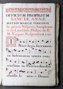 359. ANTIPHONAIRE manuscrit XVIIe s.
