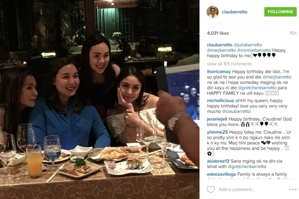 Claudine Barretto Addresses The Accusation On Her Being: Star Stalk: Claudine Barretto Celebrates Birthday With