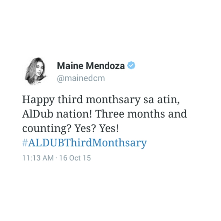 Maine Mendoza Tweet