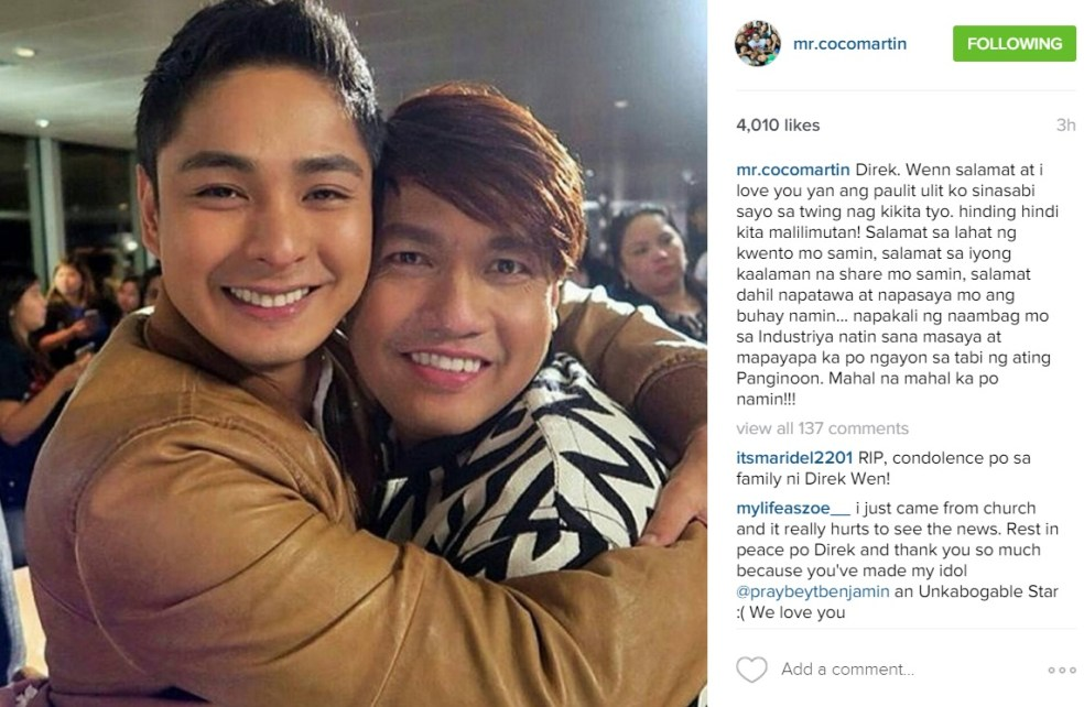 Coco Martin's Message To Wenn Deramas