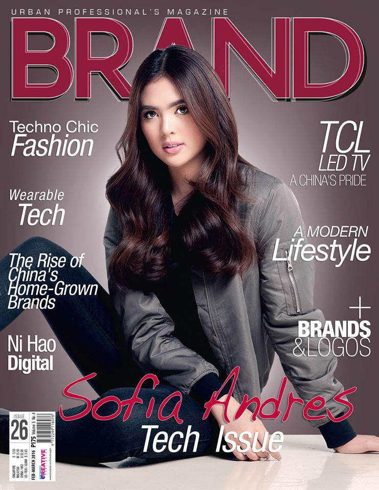 Sofia Andres Is The Cover Of Brand Magazine