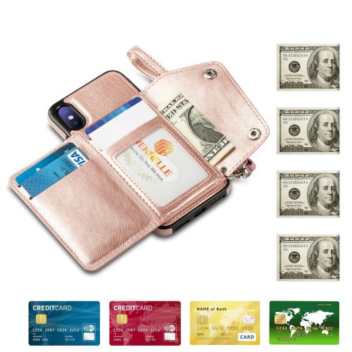 For iPhone X ,iPhone 10 Wallet Case, WenBelle Leather Case (2)