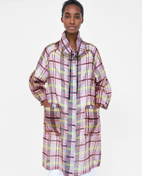 ZARA RAINCOAT ON SALE Courtesy Photo Londoners, if it rains the blue week we fight it like this