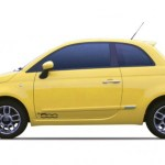 Fiat 500 eléctrico de color amarillo