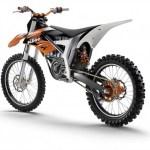 ktm freeride modelo motocross, imagen trasera