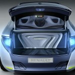 Imagen del maletero del Concept de Renault, el Fluence Zero Emission