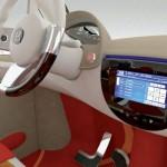 imagen del volante y mandos de control del Mondragón CityCar
