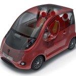 imagen de la estructura del coche eléctrico Mondragón CityCar,