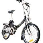 imagen frontal de la bicicleta electrica plegable, Veliac JR-18