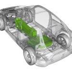 posicion de las baterias en el Volvo C30 BEV electrico
