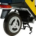 imagen de la rueda trasera del Oxygen Cargo Scooter