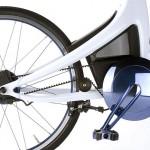 detalle de la transmisión por correa de la Lexus Hybrid Bycycle Concept