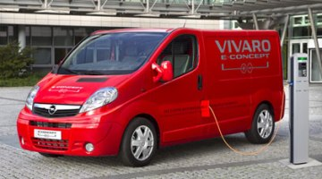 imagen de la furgoneta eléctrica Vivaro eConcept, recargando sus baterías
