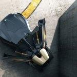 imagen superior del Peugeot EX1, donde apreciamos la forma triangular de este superdeportivo eléctrico
