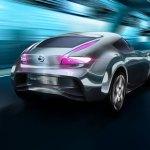 imagen trasero donde apreciamos la parte trasera del Nissan Esflow