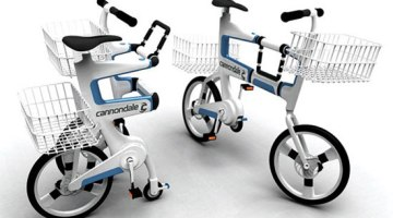 imágen de las dos funciones/posiciones de la Ville, bicicleta eléctrica