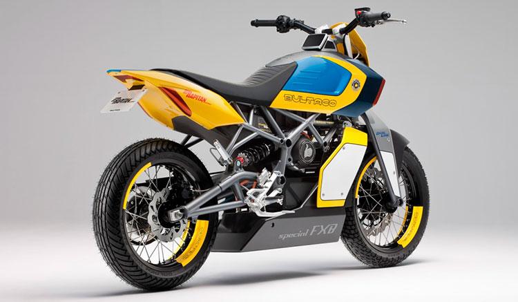 Imagen donde podemos apreciar el diseño de la zona trasera de la moto eléctrica Bultaco Rapitán Sport.
