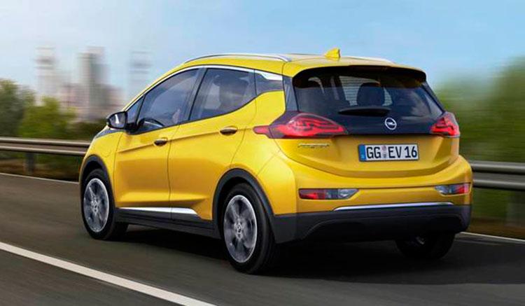 Render donde podemos hacernos una idea de cómo será la zona trasera del Opel Ampera-e, a falta de ser presentado oficialmente.