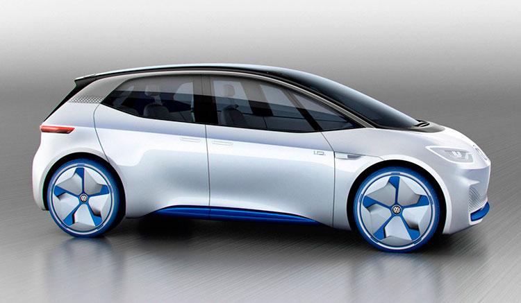 Imagen donde podemos apreciar la silueta moderna del Volkswagen I.D. Concept.