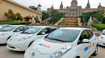 Seur adquiere 20 Nissan Leaf Barcelona