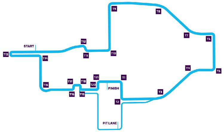 Dibujo del circuito urbano de la ciudad de Roma, donde este fin de semana se celebrará la competición de Fórmula E.