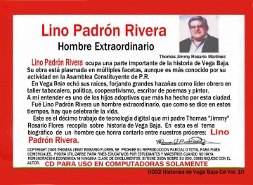 Lino Padrón Rivera 0002 Prólogo por Thomas J Rosario Martínez