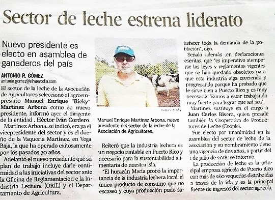 ricky martinez, presidente de la asociacion de agricultores
