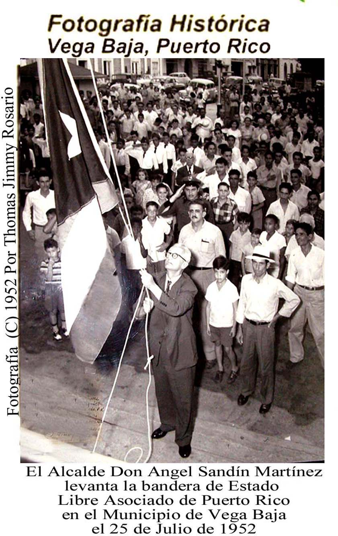Panel Alcaldes 1952 Sandín Iza Bandera PR