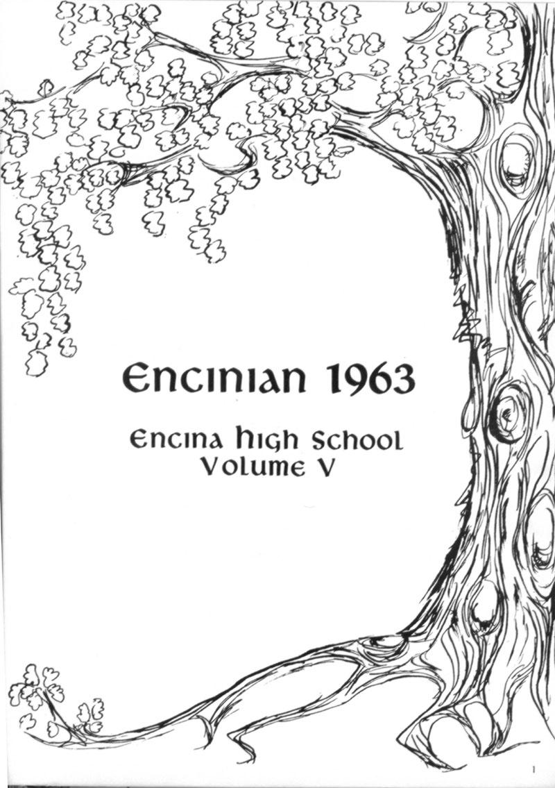 1963 Encinian yearbook