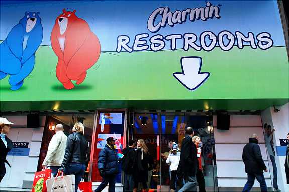 Charmin Bathrooms in Times Square