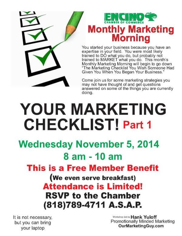Monthly Marketing Morning 11 2014