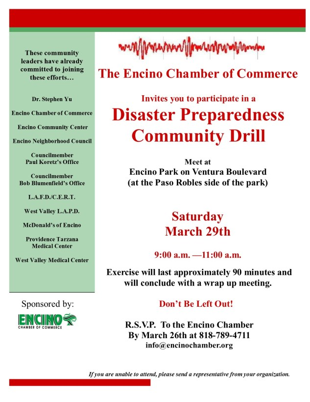 Disaster Preparedness Drill 3-29-14