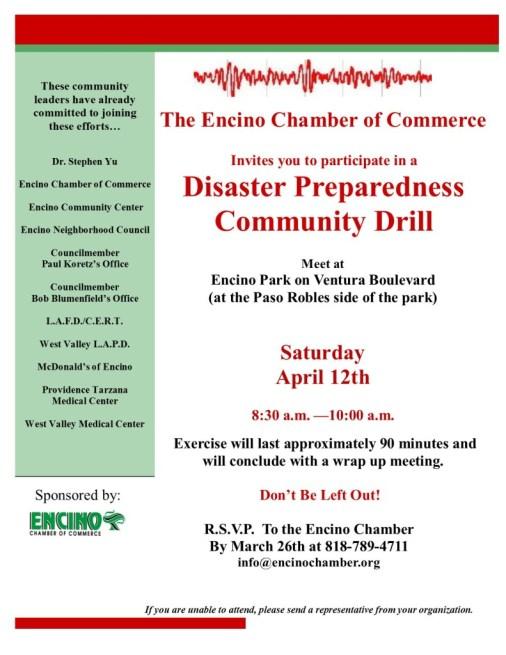 Disaster Preparedness Drill 4-12-14