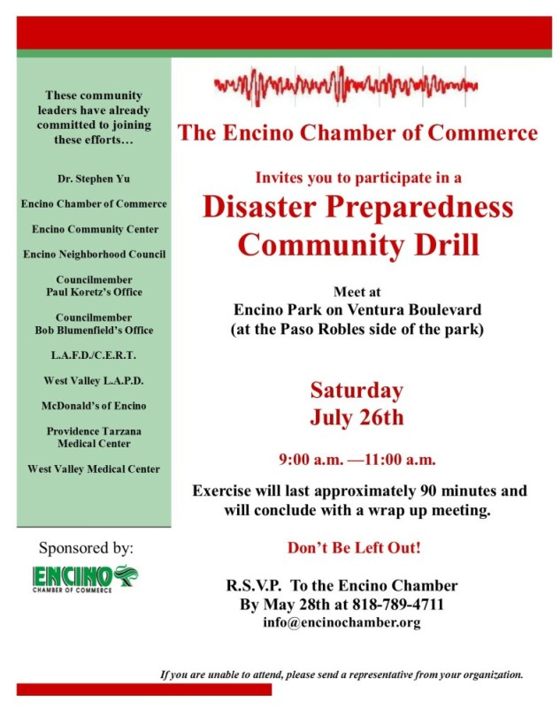 Disaster Preparedness Drill 7-26-14