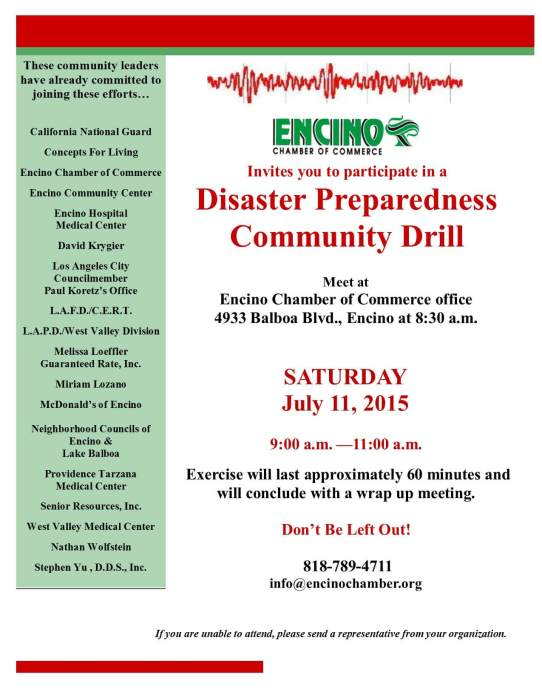 Disaster Preparedness Drill 7-11-2015