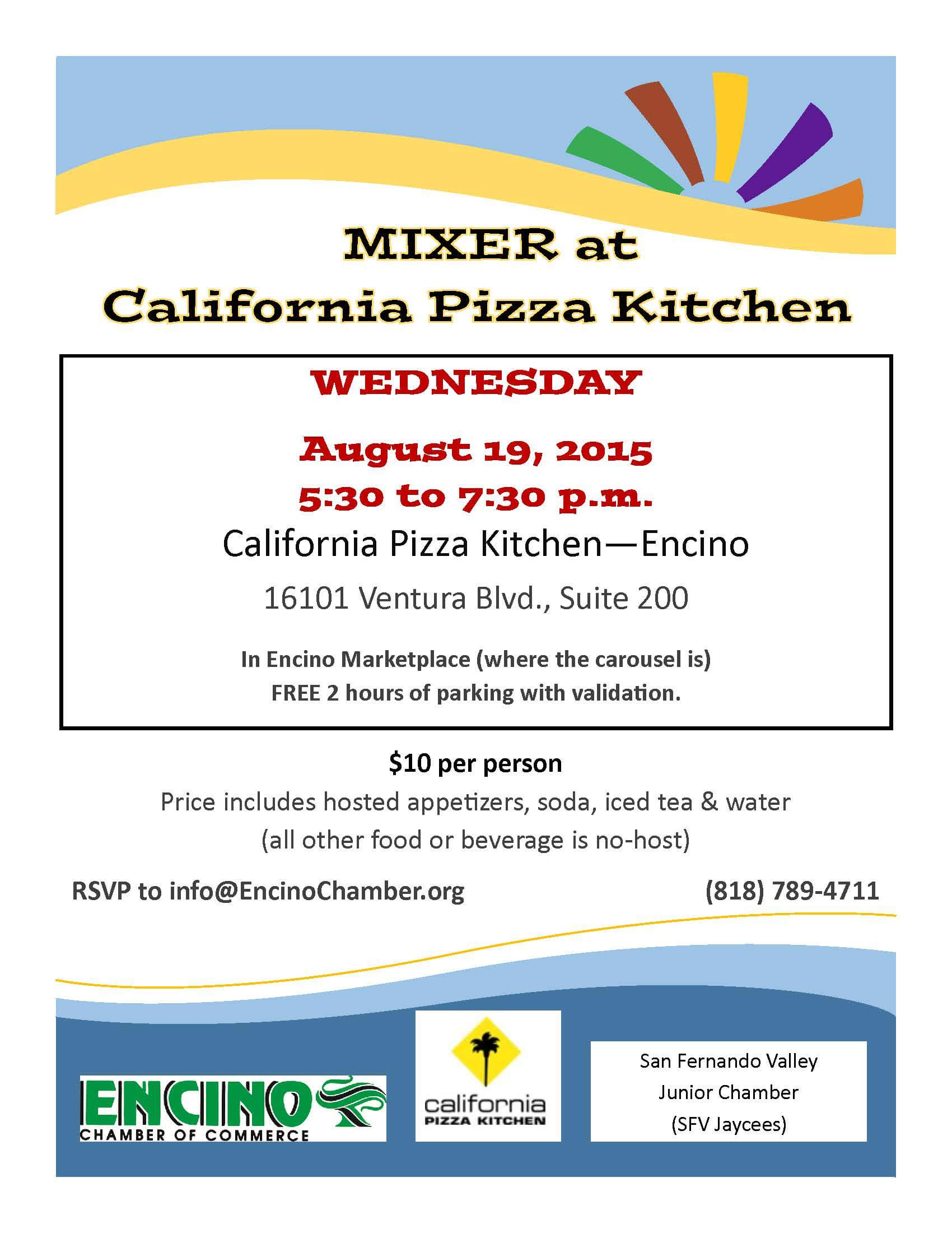 Mixer at California Pizza KitchenEncino Chamber of Commerce