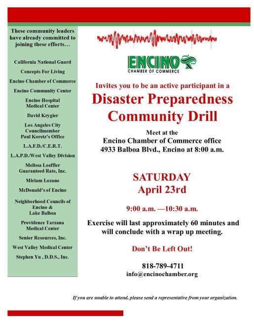 Disaster Preparedness Drill 4-23-16