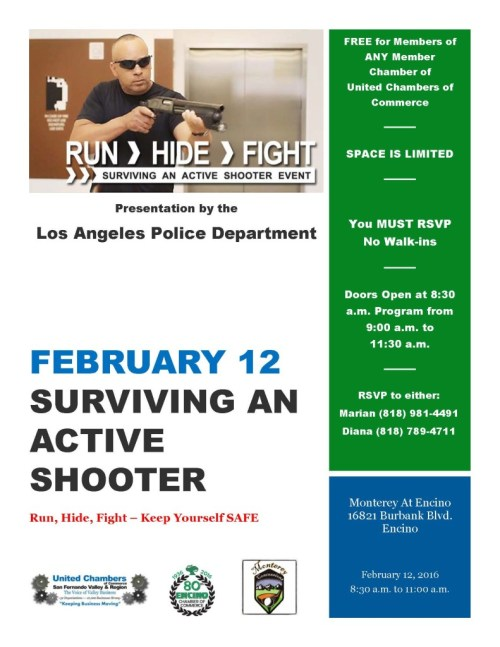 February 12 - Active Shooter Presentation