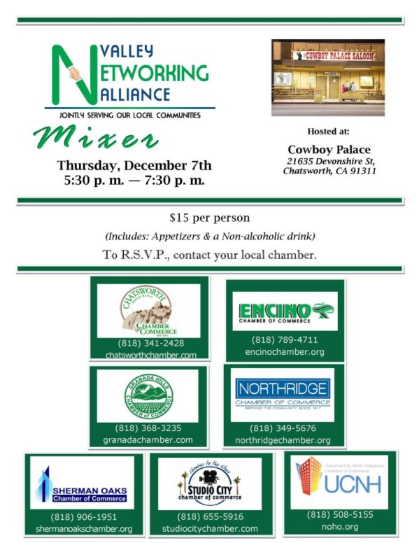 Valley Networking Alliance Mixerencino Chamber Of Commerce