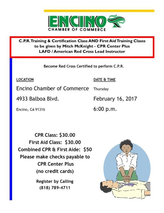 cpr class and first aid 2-16-2017