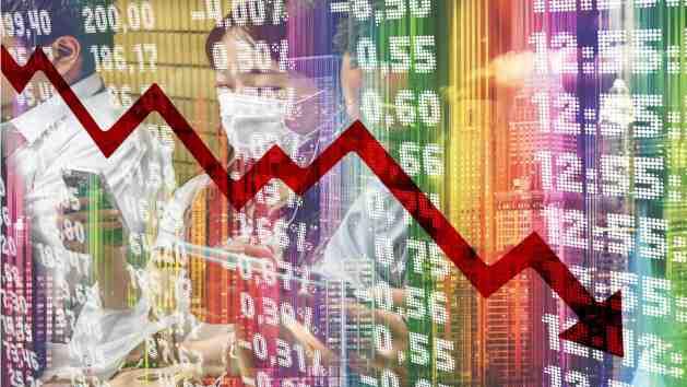 Bolsa desplomándose