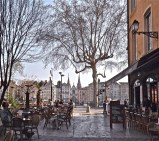 A square in Vieux Lyon.