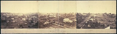 """""""Atlanta, before being burnt; by order of Gen'l. Sherman, from the cupola of the Female Seminary"""" by George N. Barnard, October 1864"""