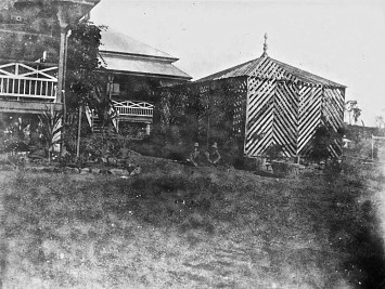 Bush-house at Greenmount Station, ca. 1927.